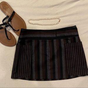 Alice + Olivia Striped Wool Skirt